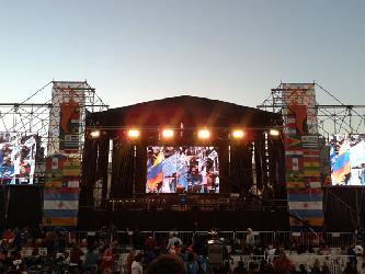 Visita del presidente Maduro en Argentina Alquiler de escenarios